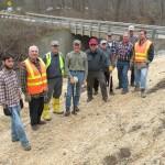 Kern-Clarkston Road bank stabilization project, 11-08 group photo